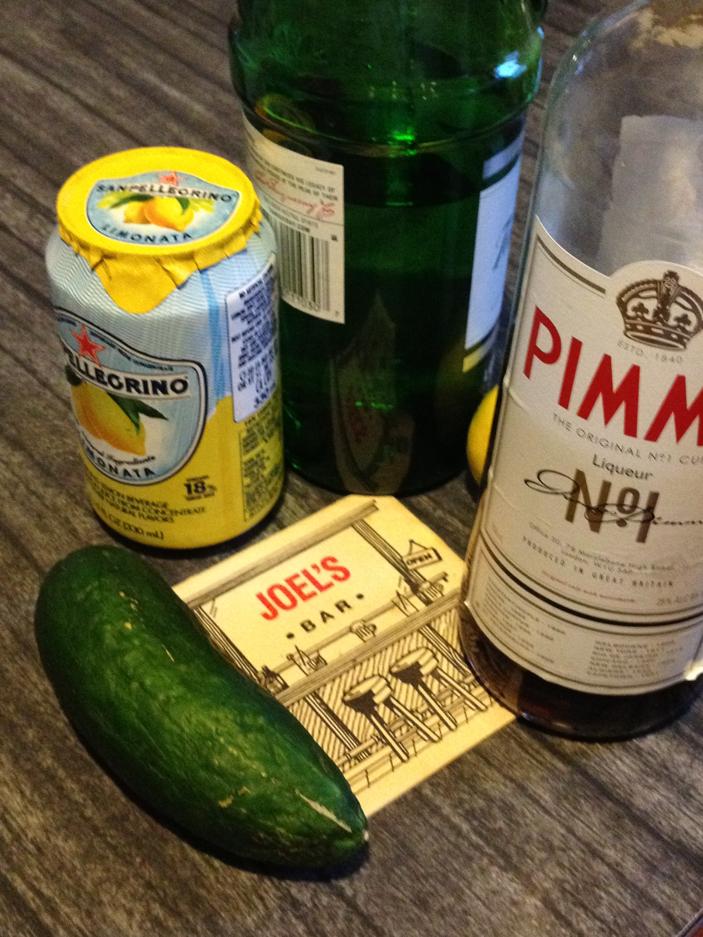 Makings of a Pimm's Cup