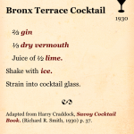 Bronx Terrace Recipe