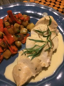 Poached Chicken with Tarragon Sauce