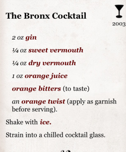 Cocktail+ App - Adapted from Gary Regan, The Joy of Mixology